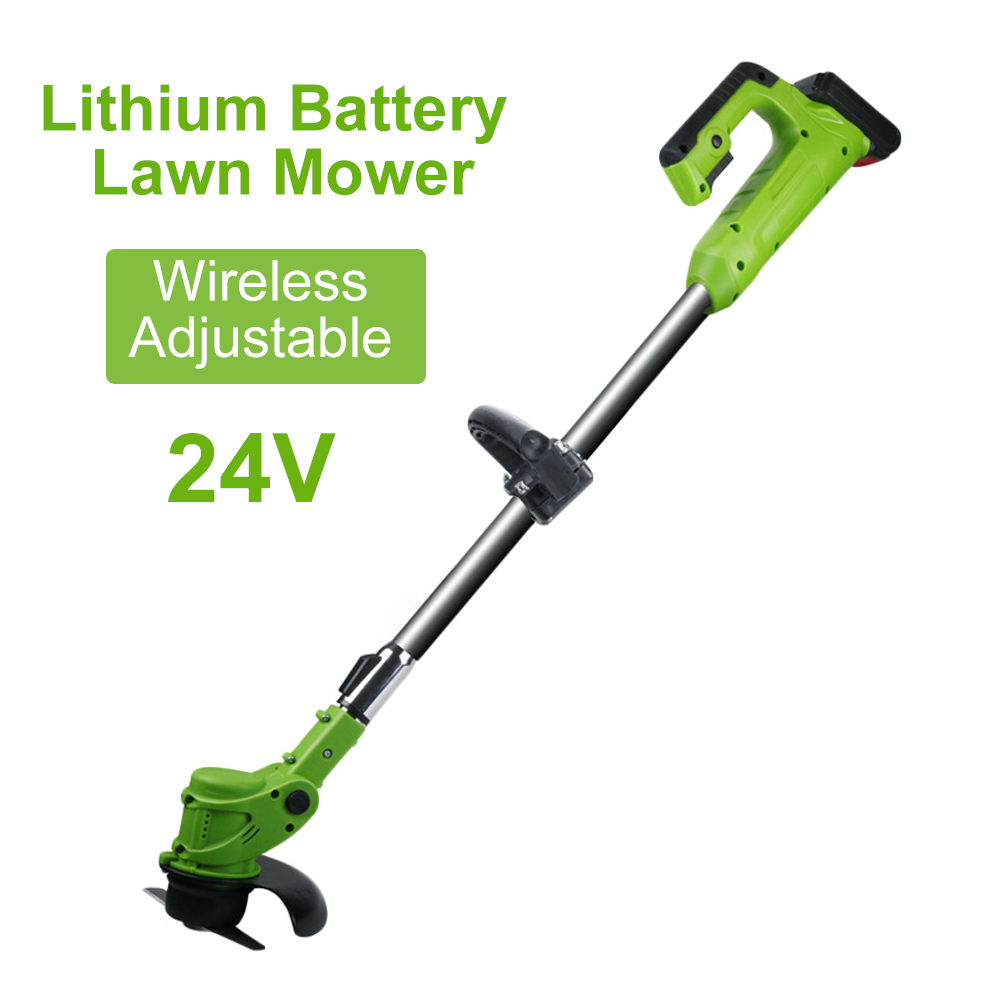 Battery Outdoor Lawn Garden Grass Mower Lithium Garden Portable 24V Tool Trimmer Tool Pruning
