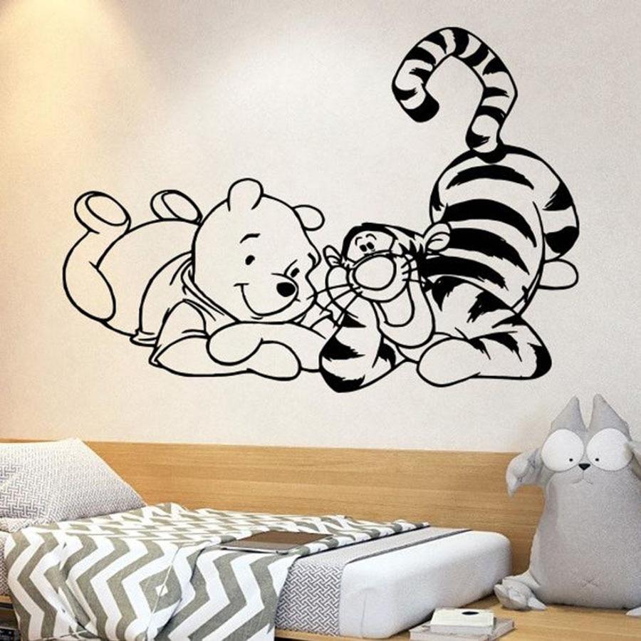 Winnie the Pooh Wall Stickers Decor Kids Nursery Tigger Piglet LD 1189