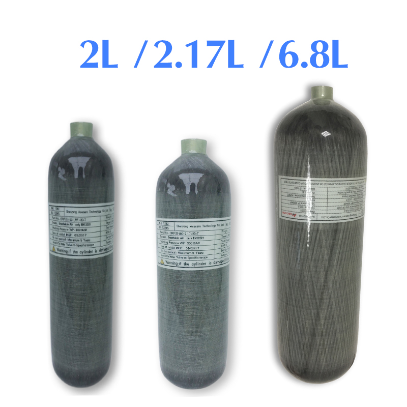 Acecare Scuba Pcp 2L/2.17L/6.8L CE Pcp Air Tank/Cylinder 4500Psi Mini Carbon Fiber Cylinder For Pcp Air Rifle/Airforce Condor