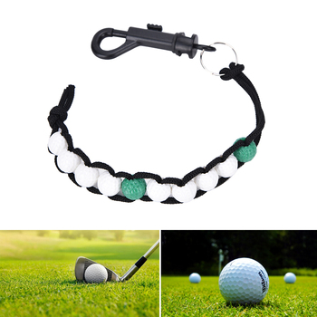 Golf Ball Beads Score Counter Stroke Putt Scoring Chain with Clip Club Golf Accessories image