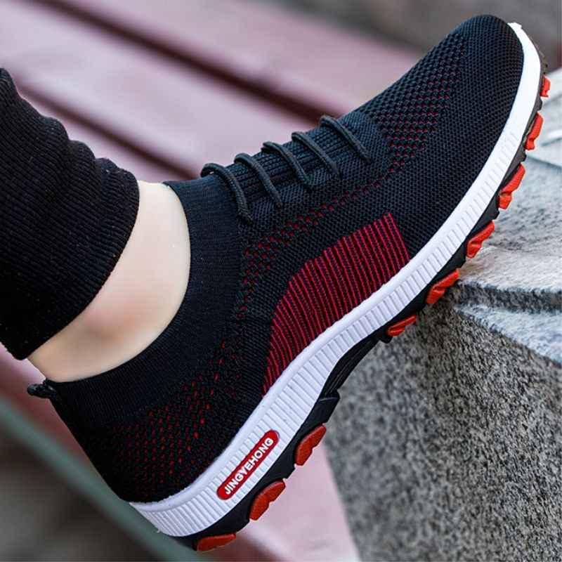 Puimentiua Sneakers Mode Outdoor Heren Kleur Hoge Kwaliteit Merk Bandage Ademende Schoenen Mesh Zachte Letters Tennis Heren Schoenen