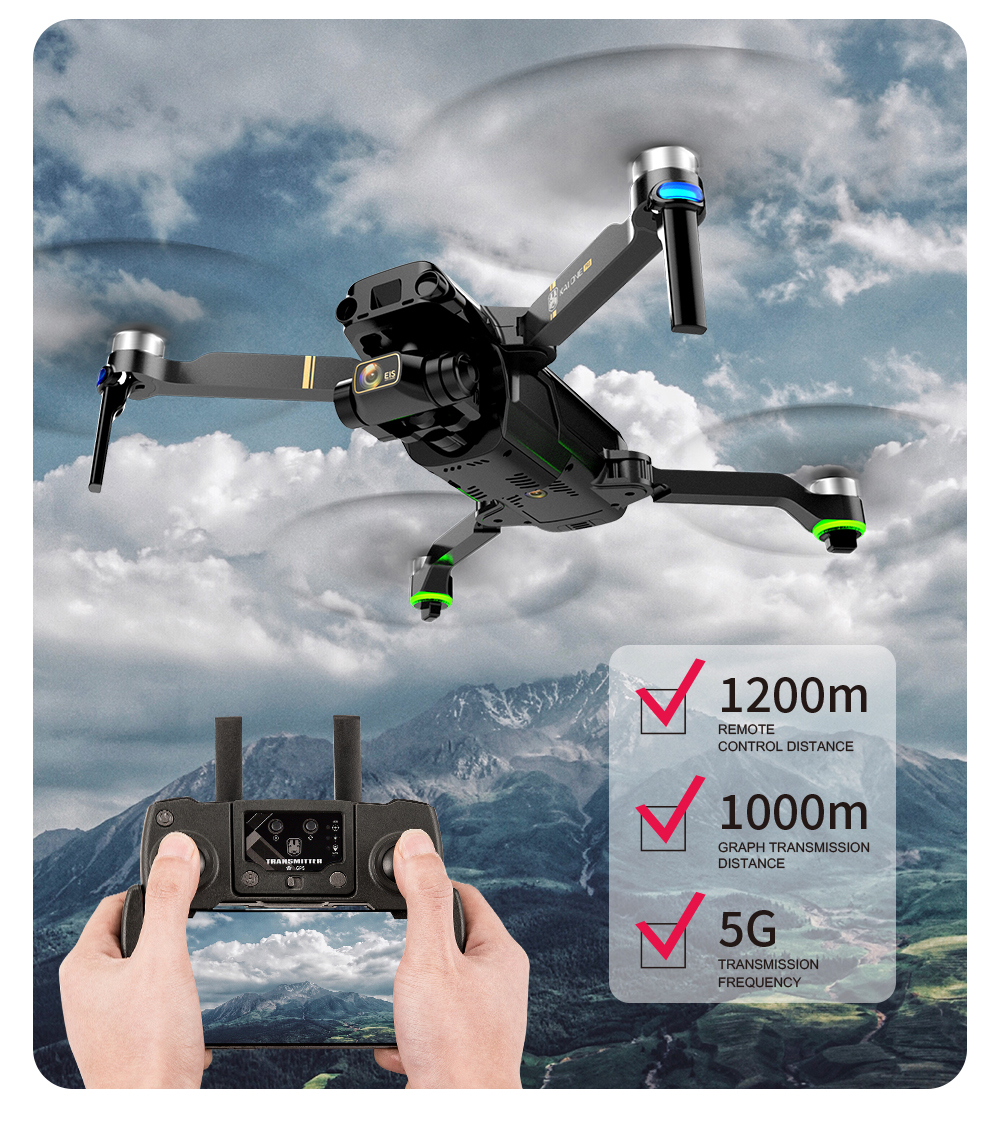 Ha375888037ad40b99a39d8b6301e66c9F - KAI ONE MAX GPS Drone 4K Camera 5G FPV WiFi Laser Obstacle Avoidance Altitude Hold Brushless RC Quadcopter Profesional Dron