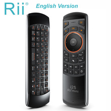 Original Rii mini i25 2.4GHz Air Mouse Remote Control with English Keyboard for PC Smart TV Android BOX HTPC IPTV Fire