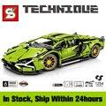 Technic Racing Sports Car Building Blocks MOC Simulation Super Classic Vehicle Model Bricks Kids Toys Boyfriend Gift for Adult