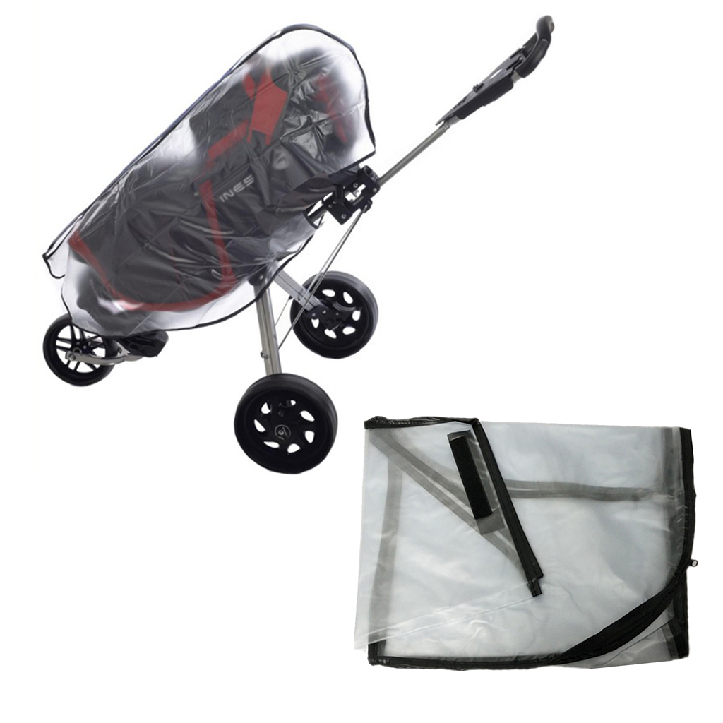 Durable Clear Golf Cart Bag Rain Cover Protector Push Cart Raincoat Protect Case
