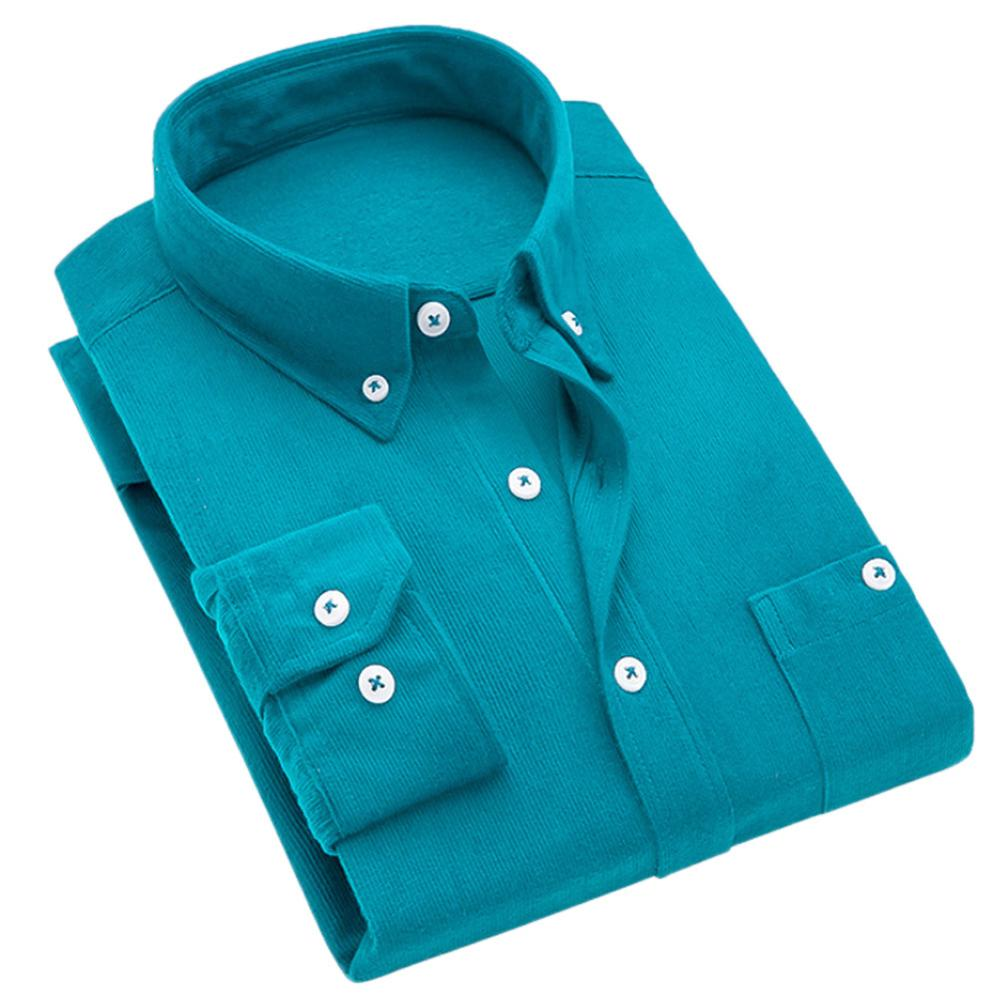 Где купить Мужская винтажная рубашка с отложным воротником и вельветовыми пуговицами большого размера