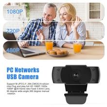HD 1080P PC Networks USB Camera Built in Microphones for Laptops Desktops Computer VH99