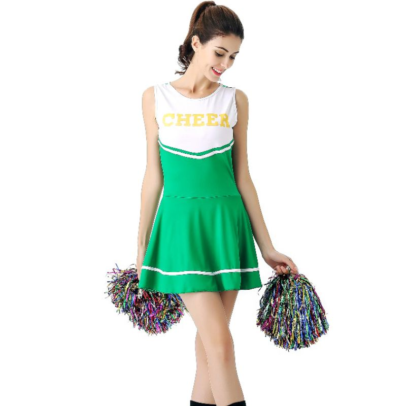 Hot Newest 6 Colors High School Girl Music Mini Dress Cheerleader Uniforms Sexy Girl Stage Performance Female