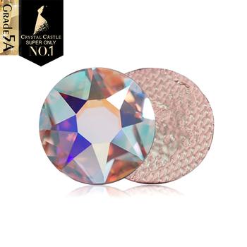 Kryształowy zamek Sw-Quality 6A Rhinestone dżety klejone na gorąco kryształ AB do gimnastyki artystycznej żelazko na poprawce dżetów do odzieży tanie i dobre opinie Crystal Castle CN (pochodzenie) Luźne dżety strasy Do szybkiego klejenia ROUND RG 2078 Xirius Rose Iron On Glass Rhinestones SS12 SS16 SS20 SS30