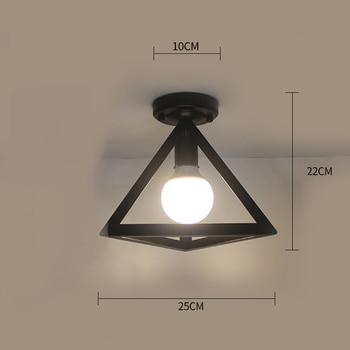 Ceiling lights Minimalist Retro Ceiling Lamp Glass E27 industrial decor  lamps for living room Home Lighting Lustre Luminaria 28