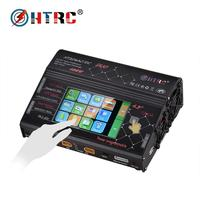 HT206 RC Charger AC/DC DUO 400W 40A Dual Port Balance Lipo Charger LCD Touch Screen Lilon/LiPo/LiFe/LiHV Battery Discharger