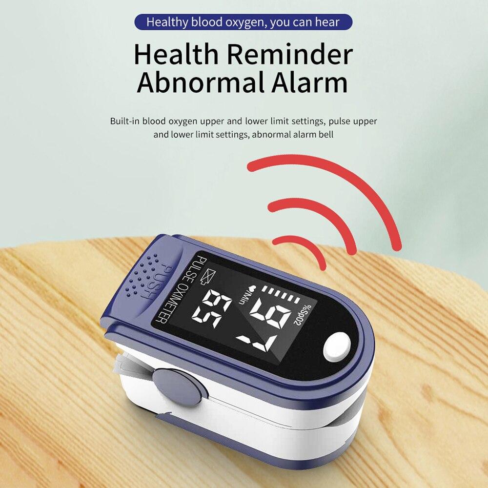 New Portable Finger Oximeter Fingertip PulseOximeter LED Display Heart Rate Spo2 PR Pulse Oximeter Oximetro De Dedo Saturimetro