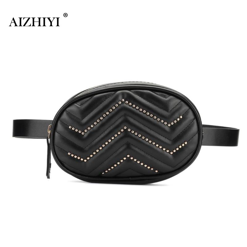 Belt Bag Waist Bag Round Fanny Pack Women Luxury Brand Leather Handbag Shoulder Belt Bag For Girls Heuptas Pochete Feminina