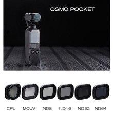 Para DJI Osmo Pocket 2 Cámara cardán de mano Osmo Pocket Filter CPL Polar ND8 16 32 64 filtro UV para DJI Osmo Pocket Accesorios