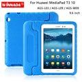 Синий Huawei MediaPad T3 10 Чехол ударопрочный EVA полный корпус Ручка Стенд кожаный чехол Huawei AGS-L09 AGS-L03 AGS-W09 9,6 дюймов Fundas