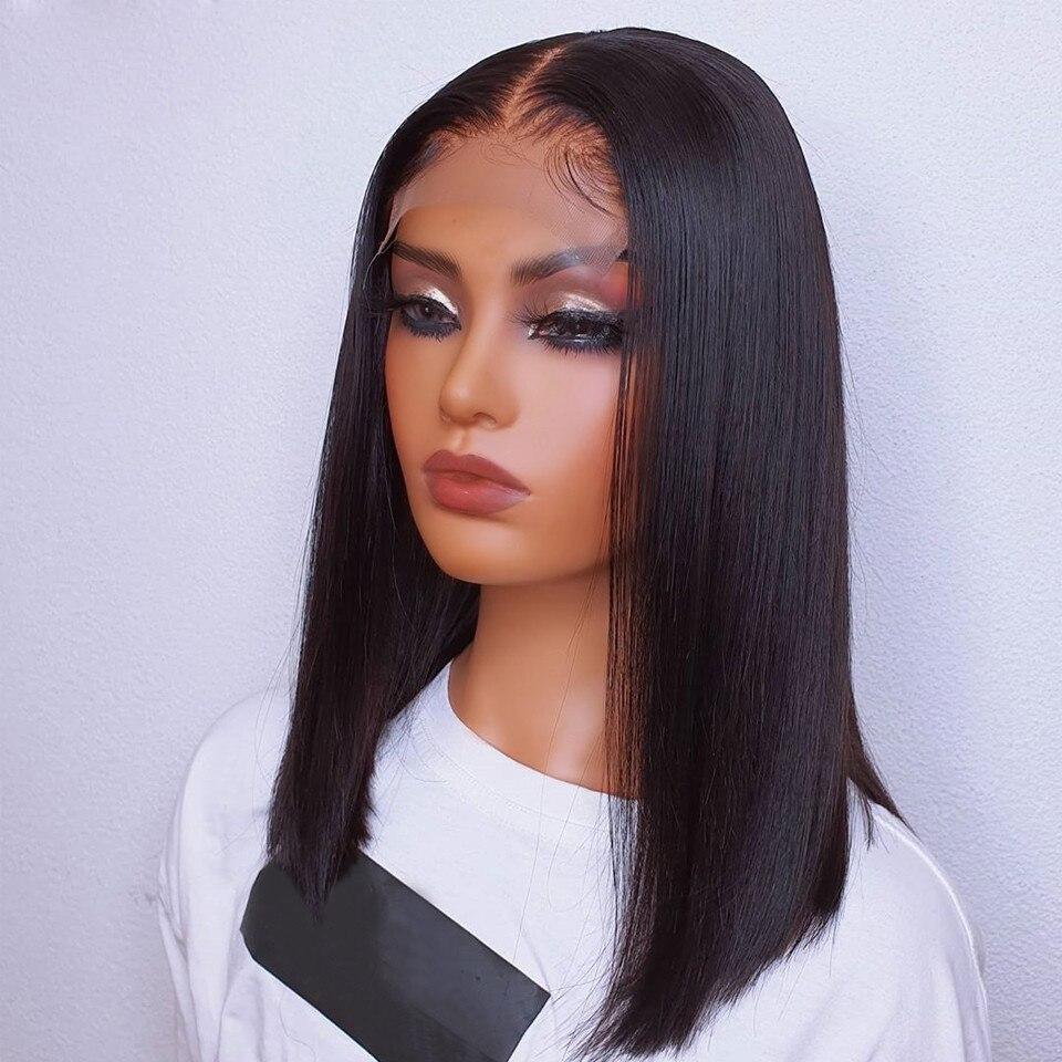 Шелковистый прямой парик на сетке спереди синтетический натуральный черный для чернокожих женщин Косплей безклеевой длинный термостойкий...