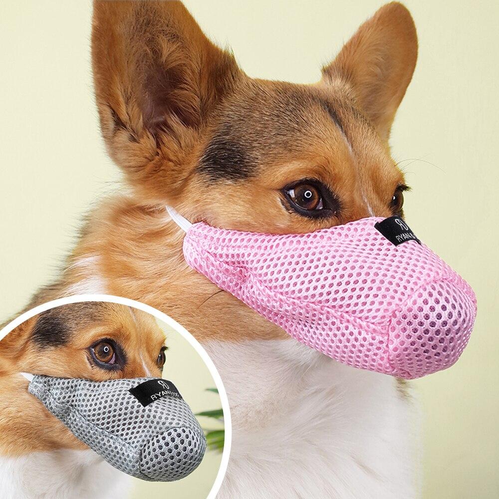 Mesh Dog Muzzle Pet Mouth Mask Anti Biting Dogs Traning Muzzle No Bite Anti Bark For Small Medium Dog Yorkshire Chihuahua
