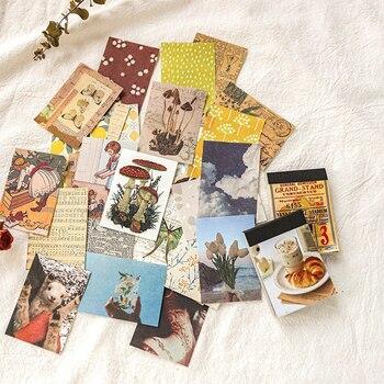 100Pcs Retro Decorative Material Paper Plant Memo Pad Scrapbook Set DIY Bullet Journal Diary
