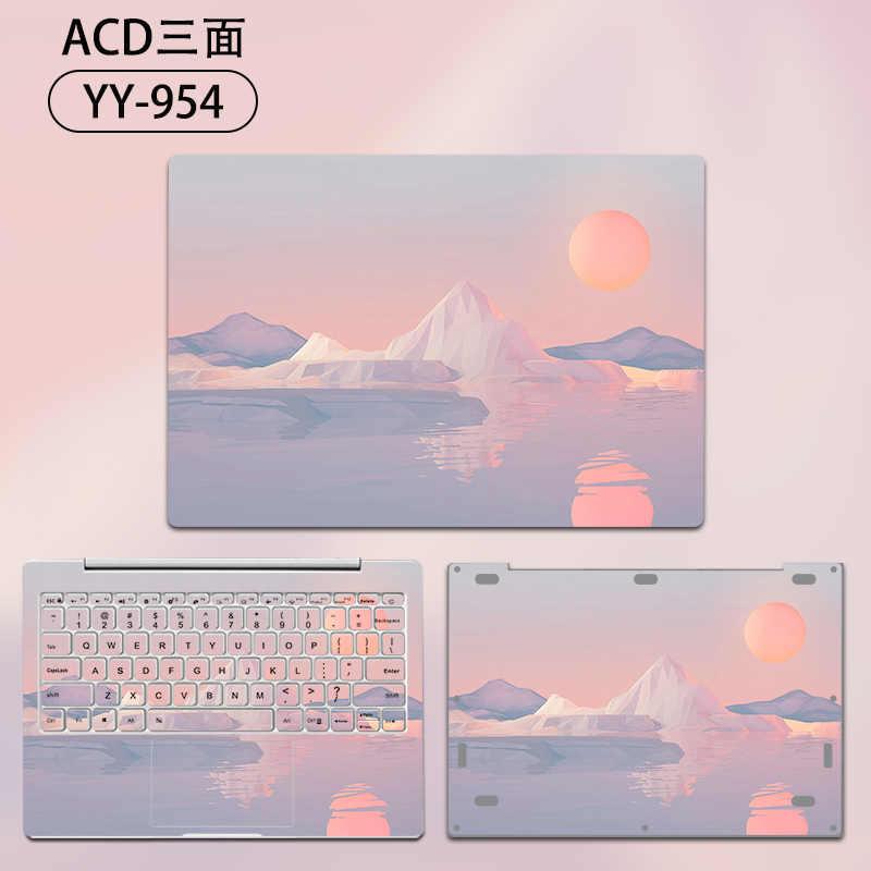 2019 חדש מחשב נייד מדבקת לשיאו mi mi מחברת פרו 15.6 ויניל מדבקות לשיאו mi אוויר 12 13 אדום mi ספר 14 מחברת עור מקרה