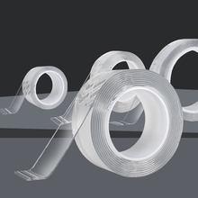1Roll Transparent Nano Band Wiederverwendbare Waschbar doppelseitige Klebeband Nano band Keine Spur Paste Abnehmbare Kleber Haushalt