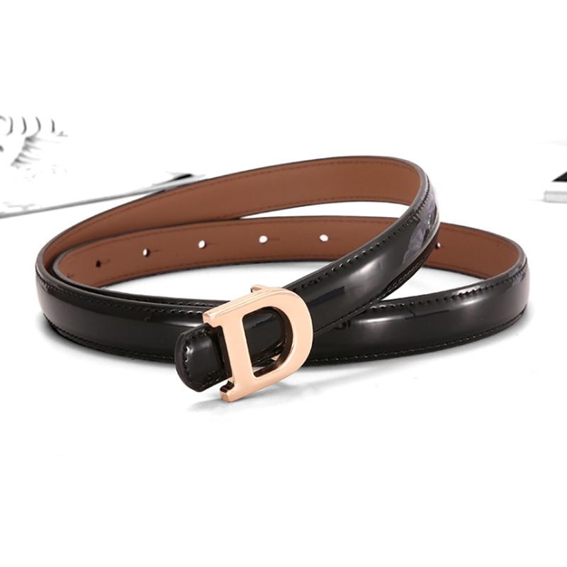 2020 Designer Belts For Women High Quality Smooth Thin Genuine Leather Belt Luxury Brand Fashion Waist D Buckle Ceinture Femme