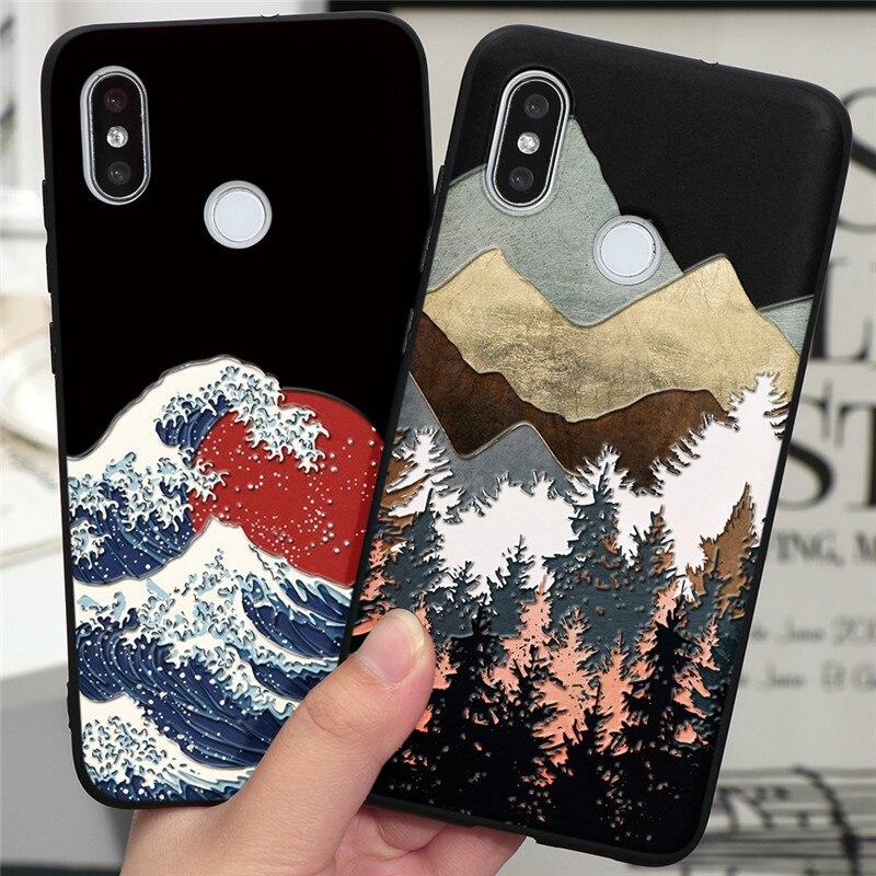 Fashion 3D Emboss Funda Case For Xiaomi Redmi Note 8T 8 9 Pro 5 6 7 7A 8A Mi 10 A3 A1 A2 6X 8 9 Lite SE F1 9T CC9 CC9e TPU Cover(China)