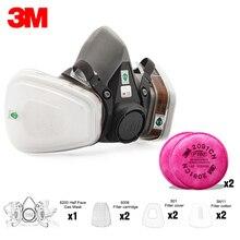 19in1 3M 6200 חצי Facepiece הנשמה מסיכת גז עם 6001/2091/5N11 מסנן Fit ציור ריסוס אבק הוכחת