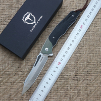 FURENC KNIVES folding knife bearing Sandvik 14C28N blade titanium + g10 handle outdoor camping multi purpose hunting EDC tools