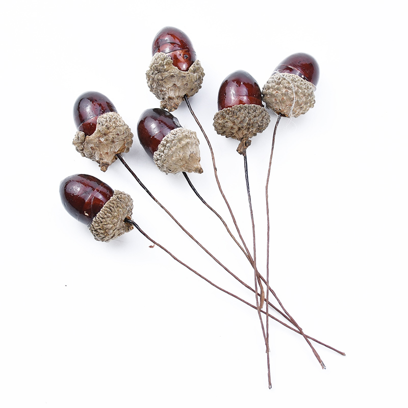 6pcs Artificial Plants Fake Flowers For Scrapbooking Wedding Bridal Accessories Clearance Christmas Craft Home Decor Pine Cone