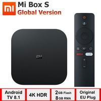 xiaomi mi box s, smart tv box android 8.1, 4K HDR Quad Core 2G 8G WIFI Google Cast Netflix Set top Box 4 Reproductor multimedia