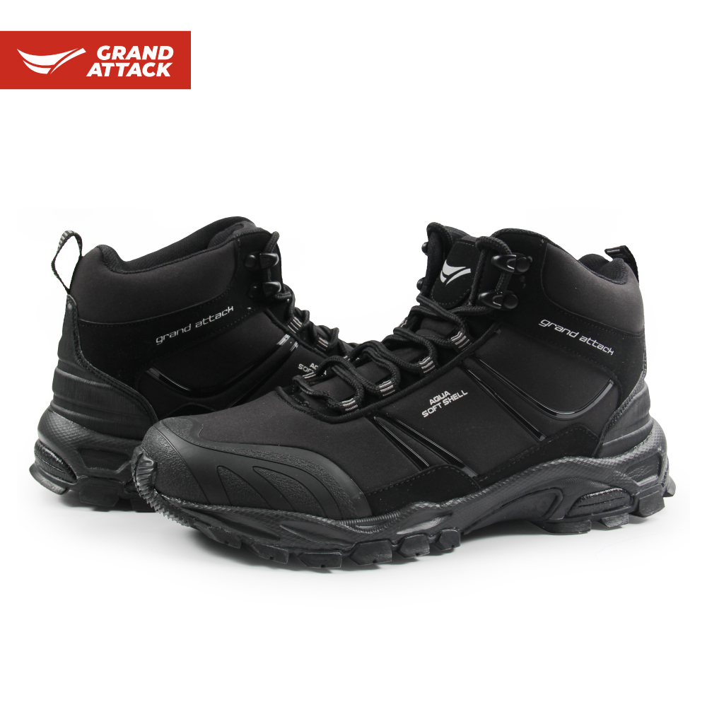 Grand Attack Outdoor Soft Shell Men'S Lace Up Ankle Boots Hiking Walking Backpacking Hunting Fishing Boots