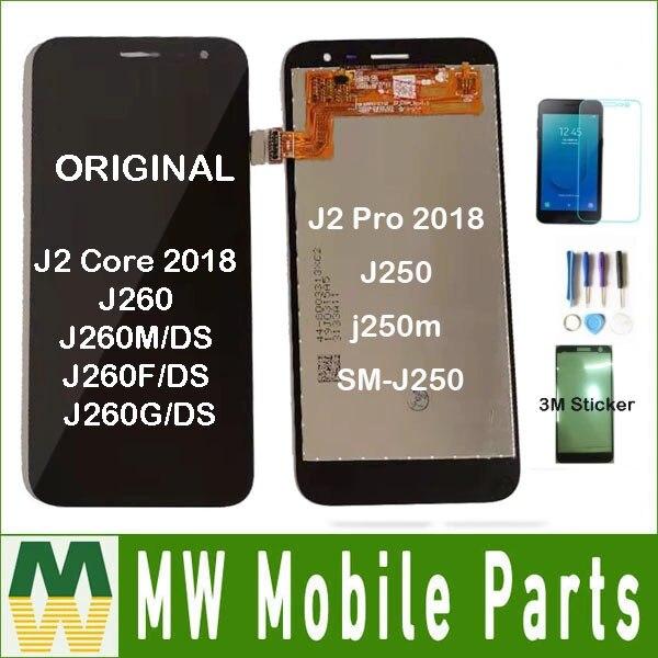 Original For Samsung Galaxy J2 Core 2018 J260 J260M/DS J260F/DS J260G/DS J2 Pro 2018 J250 LCD Display Touch Sensor Digitizer