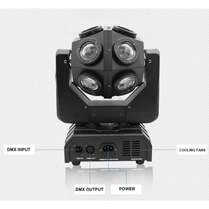 Image 5 - Luz con cabezal móvil para escenario, barra de discoteca, dj, luces de fiesta, 150W, DMX, 360 °