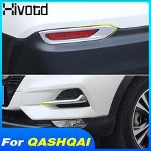 Hivotd para Nissan qashqai j11 Dualis 2019, 2020 frente LUZ ANTINIEBLA TRASERA cubierta tipo ceja embellecedor de Marco ABS cromo accesorios Exterior