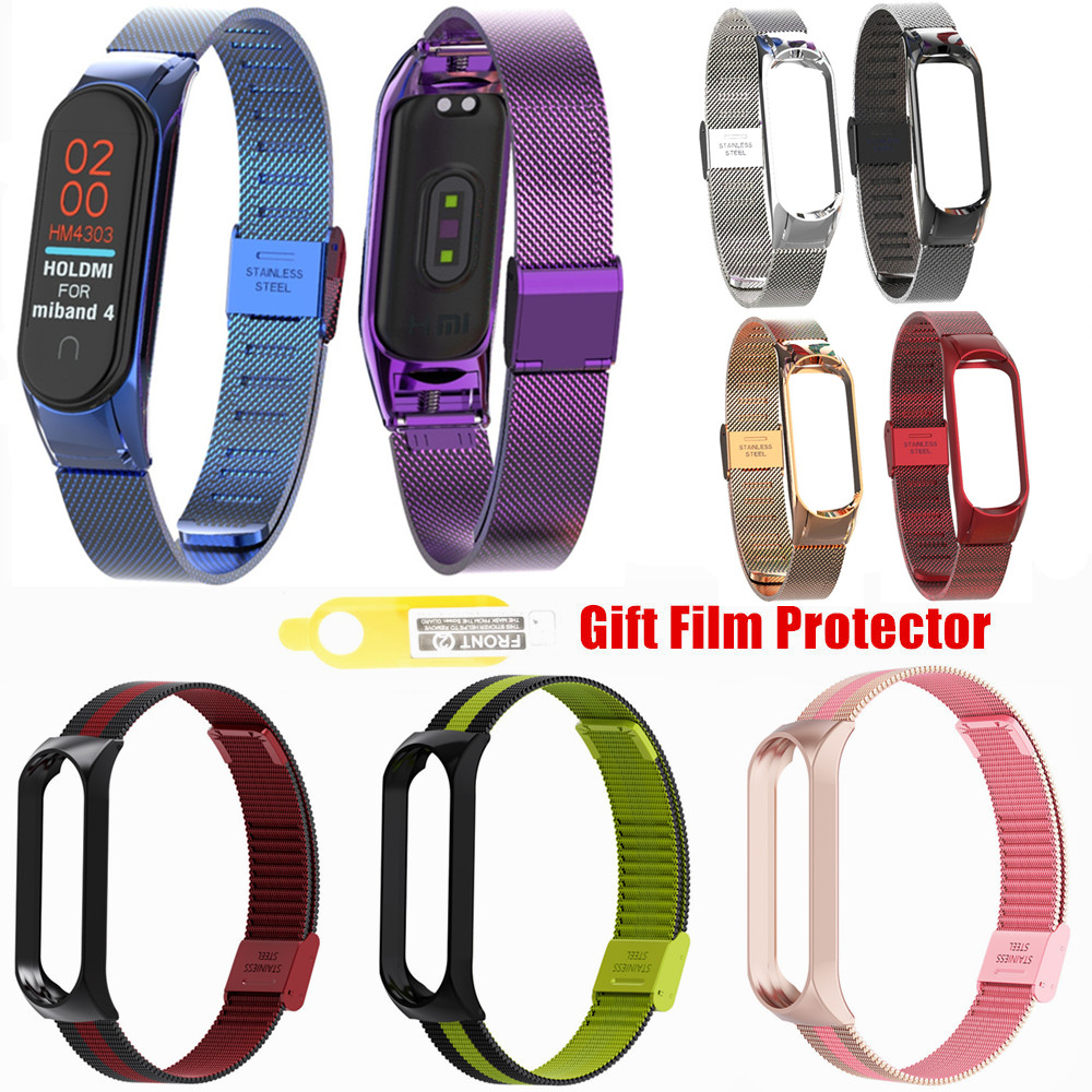 Mi Band 2 3 4 Strap For Xiaomi Mi Band 2 3 4 Bracelet Stainless Steel Metal Miband 2 3 4 Wrist Band