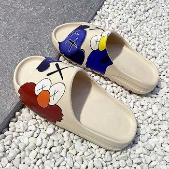 Women Summer Luxury Slide Men Shoes Slippers Indoor House Slides Graffiti Casual Beach Slipper EVA Injection Cartoon Shoes Women цена 2017