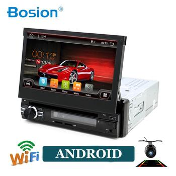 Bosion 1 Din Android 10 Car DVD Player For Universal GPS Navigation Stereo Radio WIFI MP3 Audio USB steering wheel mirro link
