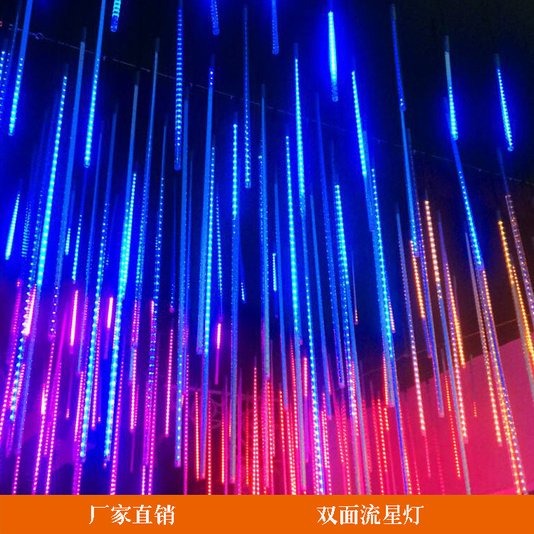 Xmas Outdoor Christmas Lights Led New Year Meteor Shower Rain 8 Tubes LED String Lights Waterproof Wedding Party Decoration