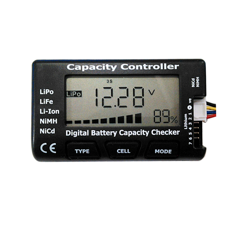 1-7S Battery Function Test Meter Power And Voltage Display LiPo LiFe Li-ion Ni-Cd Battery Checking Diy Battery Pack Detector