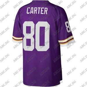 Men Minnesota Cris Carter Mitchell & Ness Purple Legacy JerseyWomen Kid Youth Custom