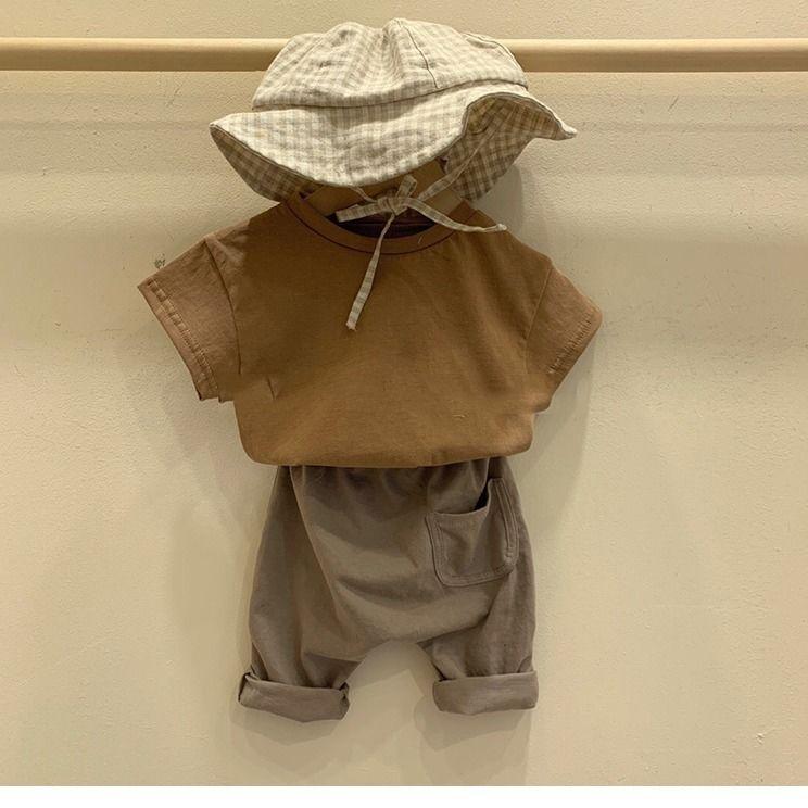 VIDMID Kids T-Shirt Cotton Short Sleeve T-shirts For Boys Tee Girls Tops Children Summer Clothes Baby Sweatshirt Children  P681 5