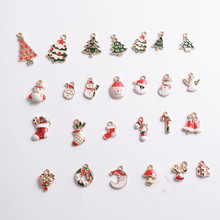 100pcs/lot Christmas Pendants Charms For Bracelet Necklace Jewelry DIY Making Girls Kids Gifts