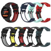 Silicone Band for Garmin Forerunner 220/735XT Strap Two-color Silicone Wristband for Garmin Forerunner 220/735XT Watchband