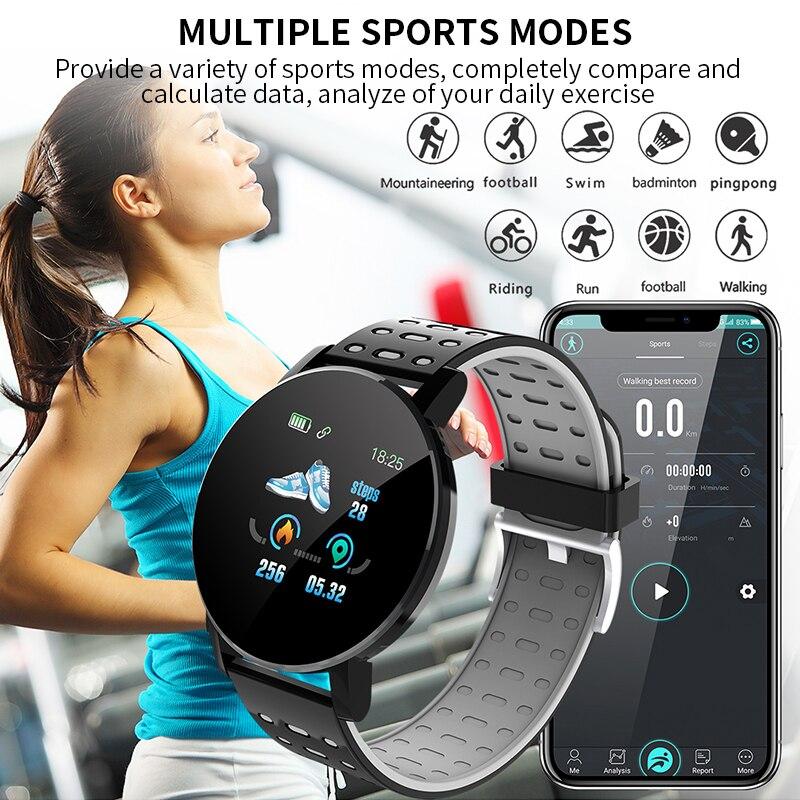 2020 Smart Bracelet Watch Man Wen Waterproof Blood Pressure Measurement Fitness Tracker Heart Rate Monitor Pedometer Smart Band