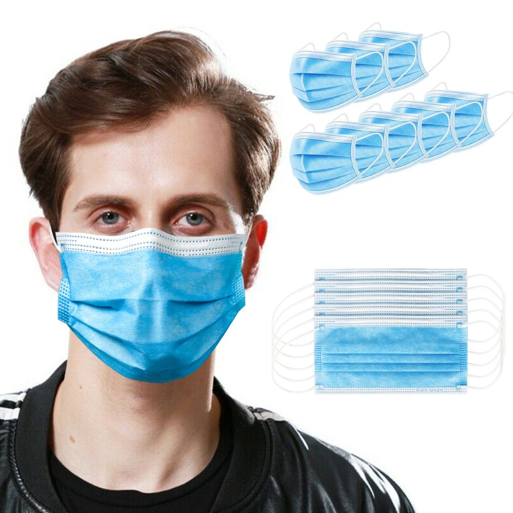 10 50 100 pcs/lot PLY Disposable Face Masks Anti Dust Personal Protect Mask Ear Loop