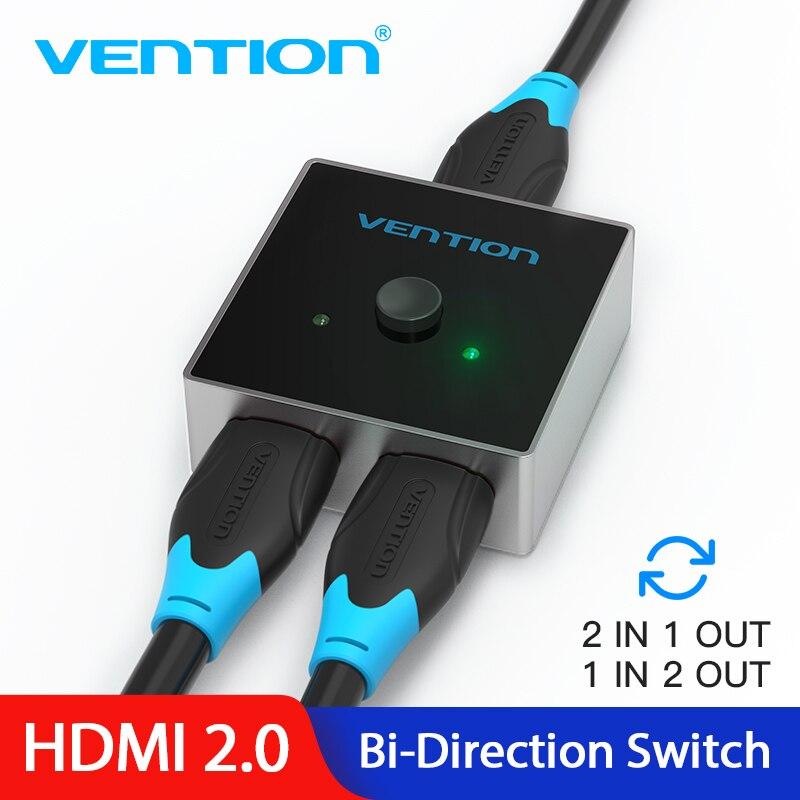 Intervento HDMI Switch Splitter HDMI 2.0 4K Bi-Direzione Switcher 1x 2/2x1 Adattatore 2 in 1 out Converter per PS4 TV Box HDMI Switcher