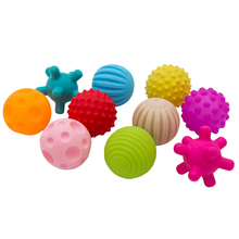 10pcs Baby Multi Textured Touch Hand Toy Balls Tactile Sensory Inflatable Training Massage Stress Ball for Children Toys