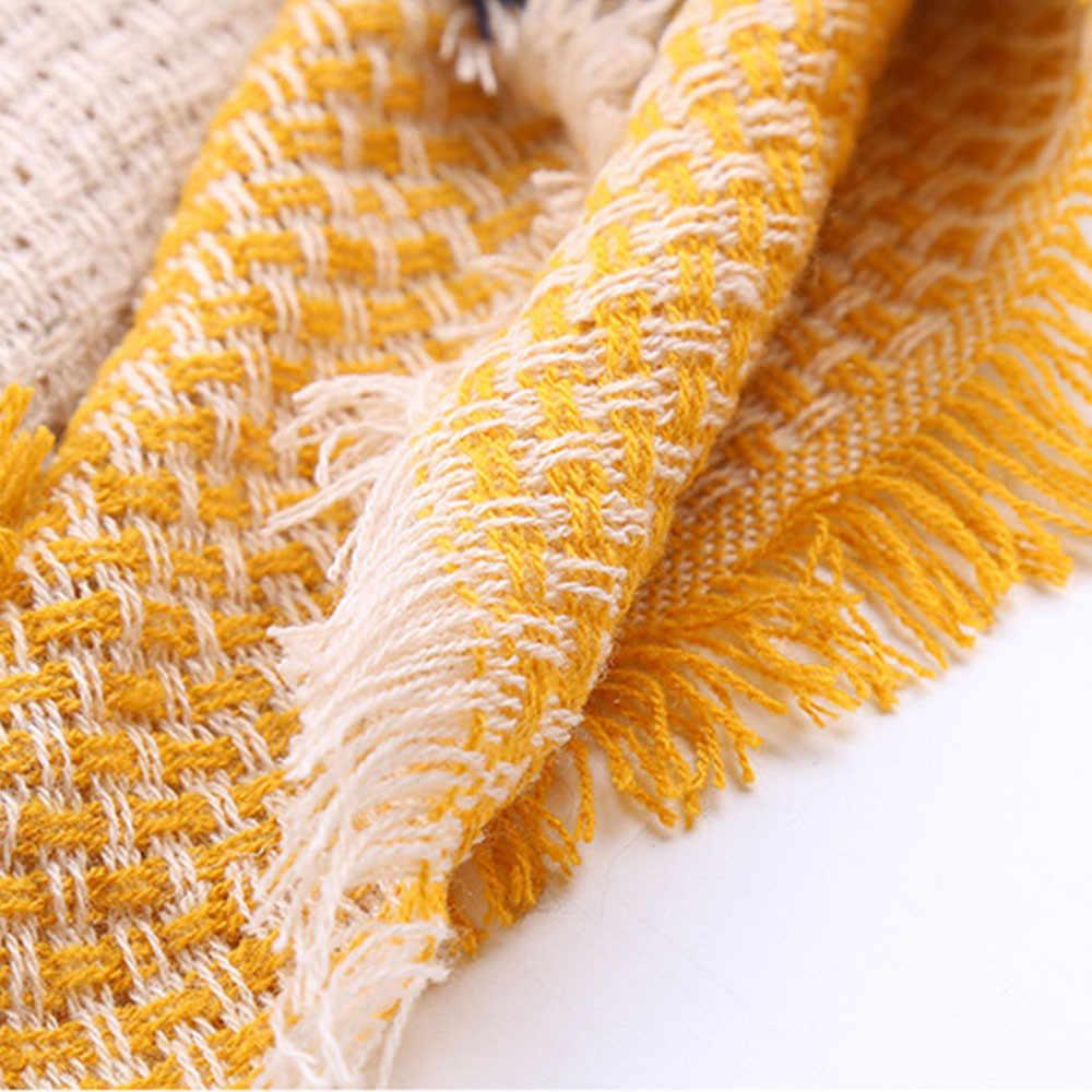 Phụ Nữ Khăn Choàng Nữ Nhiều Màu Sắc Nữ Thời Trang Dài Len Cashmere Khăn Choàng Kẻ Sọc Cổ Nữ Kẻ Sọc Cashmere Scarfs Cho Nữ 2020 # YL5
