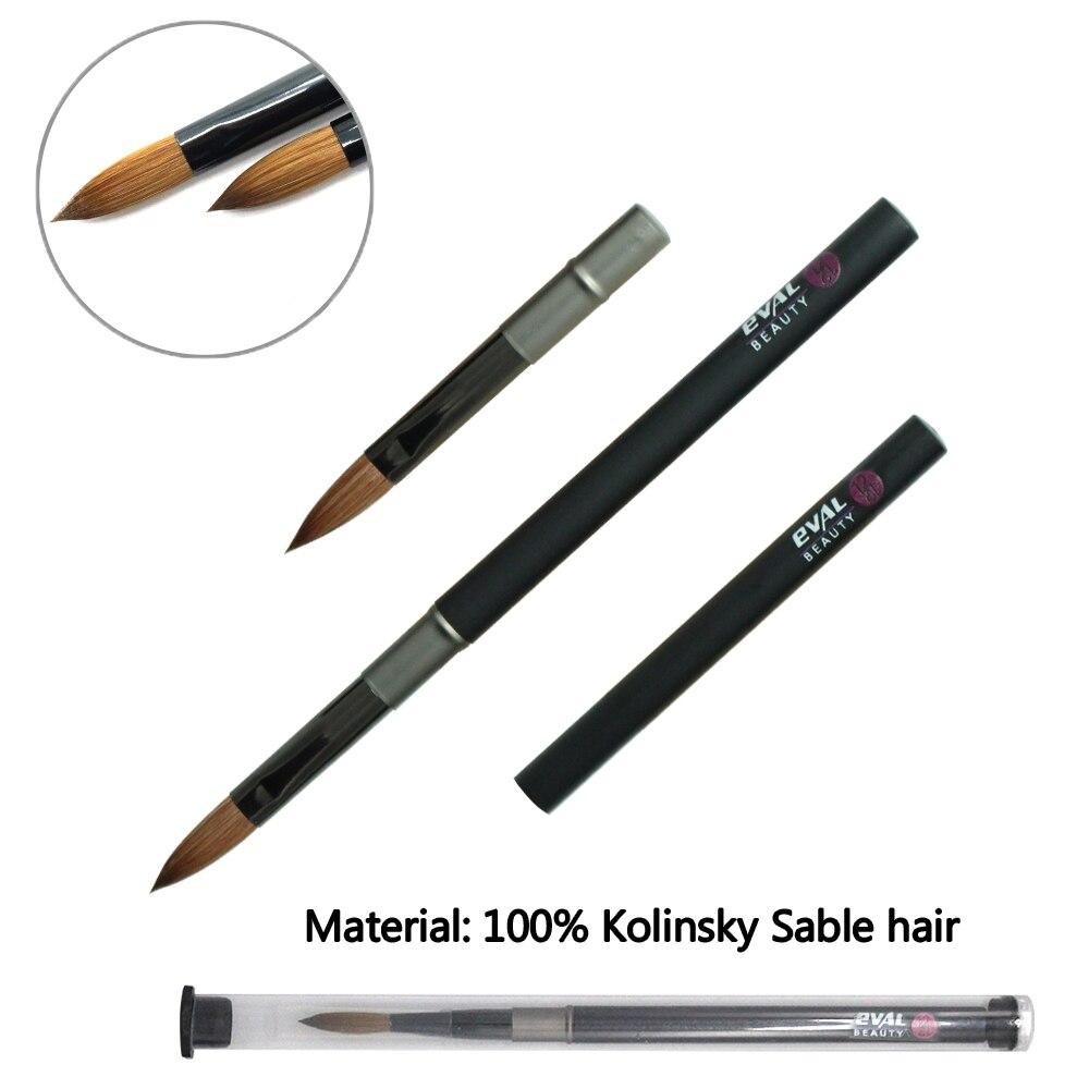 kolinsky sable cabelo escova de unhas em