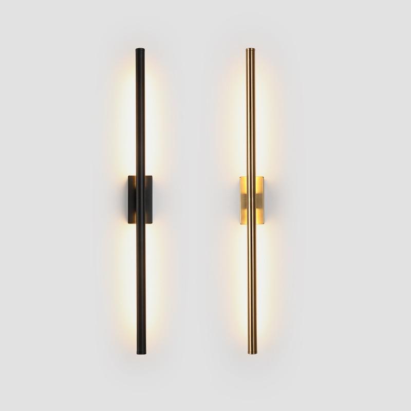 minimalista longa faixa lampadas de parede moderna nordic sala estar fundo da parede quarto lampada cabeceira